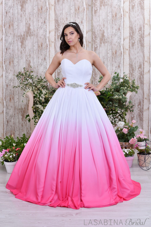 Ombre Hochzeitskleid farbigen Brautkleid bunte