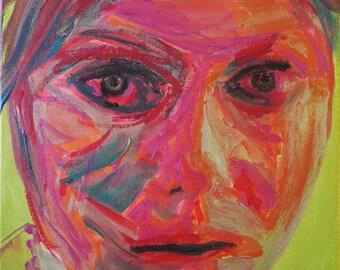 "Eyes of Green 10x12"""