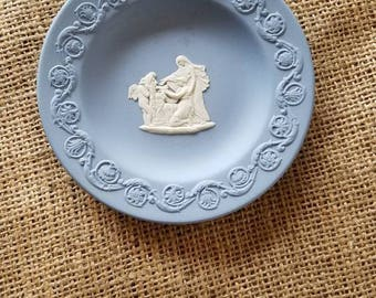 "Vintage ""Wedgwood"" Blue and White Small Plate/ Pin Dish!"