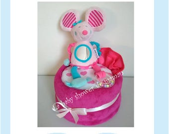 Little mouse - for birth gift diaper cake baby shower
