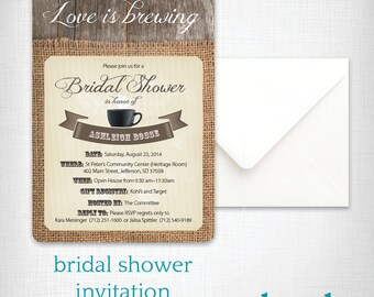 Bridal Shower Invitation: Love is Brewing