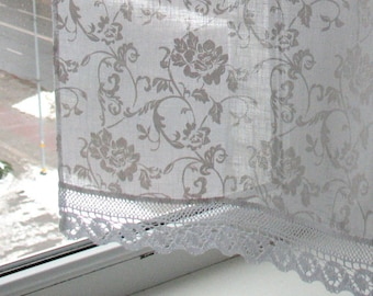 White curtains vintage lace curtains cafe curtains washed vintage lace curtains cafe curtains washed linen white kitchen curtains lace panels curtains white curtains burlap curtains panels flowers mightylinksfo