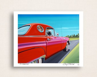 Thunderbird - rocketing in a classic - Limited Edition Signed 8x10 Semi Gloss Print (3/10)