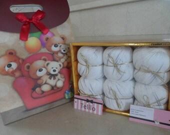 set of 6 balls of yarn pastel cashmere Merino silk
