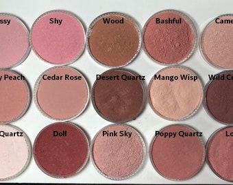 Erröten Sie Mineral Make-up Ihrer Wahl aus 15 Farben einfach anzuwenden dezente Rosenquarz Mineralien