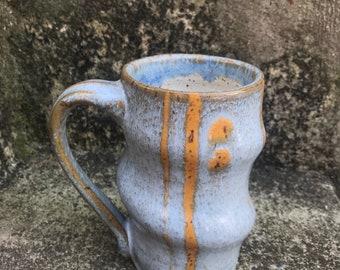 Partly Sunny Cloudy Blue Swirls Mug  - Handmade Pottery - Ceramic Mug - Coffee - Tea
