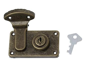 3 locks for Caskets and more, 7.3 x 4.1 cm, antique Bronze