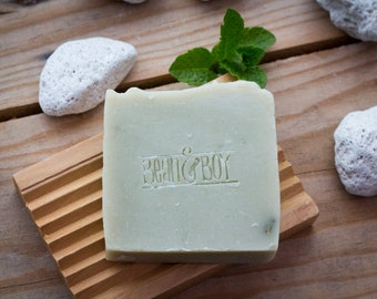 Pumice & Patchouli Soap - Certified 100% Natural Pure Vegan Handmade Soap (Cold Process)