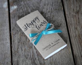 Happy Tears Tissue Wallet Wedding Favour