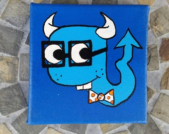 """BLUE - """"Smarts"""" - PonderMonster Rainbow Collection"""