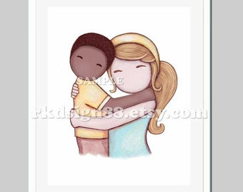Adoption gift boy nursery art for boy room decor adoption art children room decor kid art African blonde Proud Of You 8 x 10