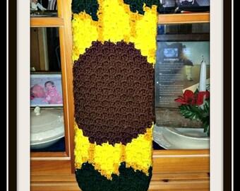 Sunflower Bag Holder, Crochet Pattern, Mini C2C