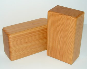 Yoga Block Set of 2 / Hand made in the USA from Reclaimed Lumber / Solid Wood
