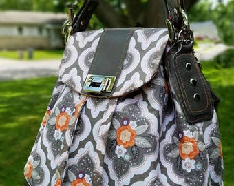 Trenta Bucket Bag PDF Sewing Bag Pattern- Convertible Shoulder, Crossbody, Backpack - RLR Creations