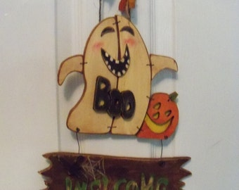 Welcome Sign Halloween, Boo Sign, Ghost, Halloween Ghost Decoration, Halloween Sign, Halloween Decoration, Halloween Decor, Pumpkin Sign