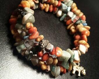 Boho Chip Glass Bracelet