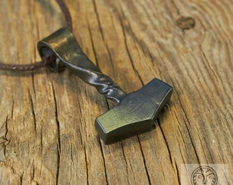 Thor's Hammer Forged Pendant, Mjollnir, Mjolnir, Thor Jewelry, Viking Jewelry, Norse Jewelry, Scandinavian Jewelry, Medieval, SCA, LARP