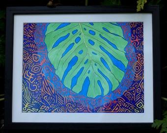 Tropical Leaf — Original Marker Art — Fine Art Print