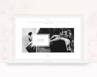 Wedding Photography ProPhoto 6 Design - Classic ProPhoto 6 Theme - ProPhoto 6 Website Design Template for Prohotgraphers - INSTANT DOWNLOAD