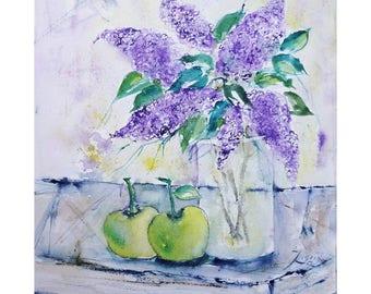 Watercolor lilac