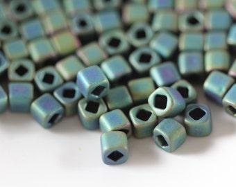 4mm Cube Seed Beads TOHO Matte-Color Aquarius #710  (8 Grams) I-2A