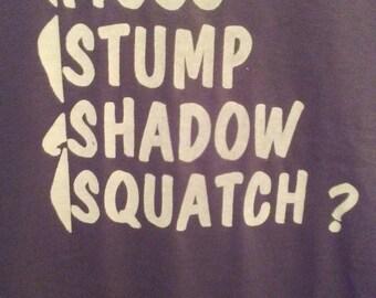 Bigfoot/Sasquatch t-shirt