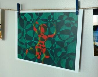 Art Print of 'Dancing with Myself'