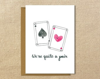 Quite a Pair | A2 Illustrated Card