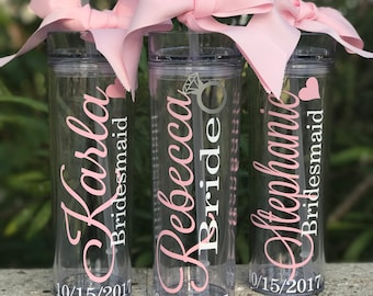 Custom Tumbler, Tumbler, Bride to Be, Bridesmaid, Bridesmaid Tumbler, Gift Tumbler, Bridesmaid Gift, tumblers ,Bridal, Personalized Tumbler