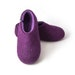 Women's purple slippers, Felted Wool Slippers, warm House Shoes, wool clogs, soft sole slipper indoor shoes, mothers day gift, clothing gift