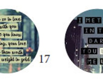 30mm cabochons with song lyrics
