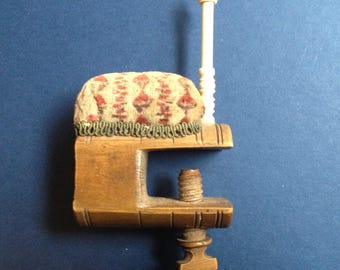 Nineteenth Century Pincushion Clamp with Horn Bobbin Post