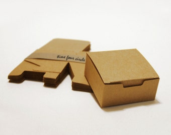 Set of 100, Kraft Gift Box, Favor, Gift, Party