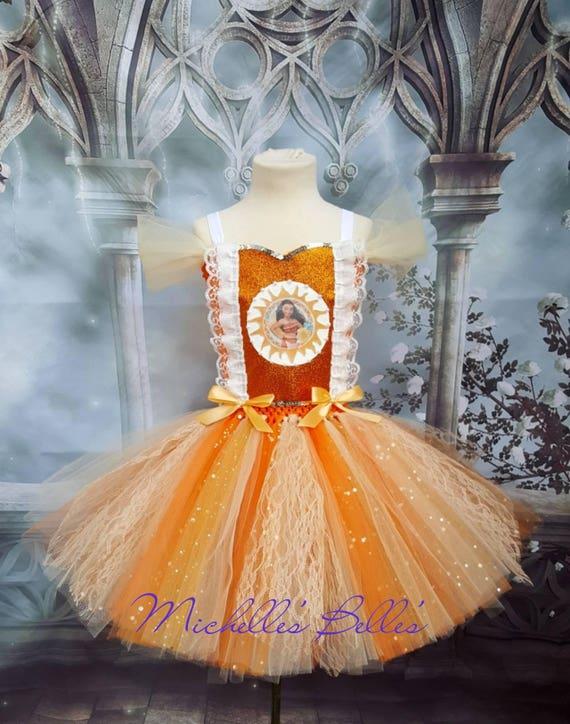 Moana Stil Tutu Kleid Party-Kleid