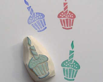 Cupcake Rubber Stamp, Birthday Parties, Cupcake Toppers, cute cupcake, cupcake stamp, birthday stamp, scrapbooking, cardmaking, party, diy