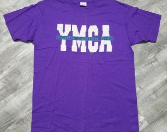 NWOT Vintage YMCA North Canton Ohio Collegiate Pacific T-shirt size XL