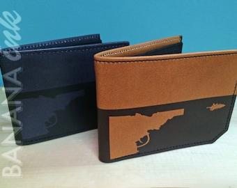 Idaho Gun-Tree Leather Wallet - BANANA ink