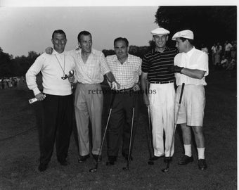Vintage Golf Black and White Photo - Retro - Ed Sullivan, Cherry Volpe, Ben Hogan, Perry Como, June 1954 - GO-05