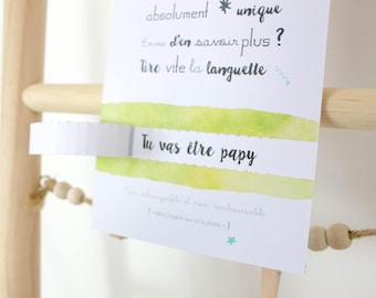 Bon cadeau : Annonce de grossesse - Demande de témoin / parrain / marraine