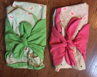 Tie Swaddle for Twins