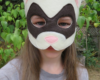 Ferret Mask - Weasel Mask - Woodland Animal Costume - Pretend Play