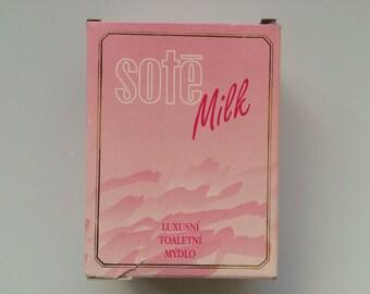 Vintage Czechoslovakia Soap Bar Sote Milk