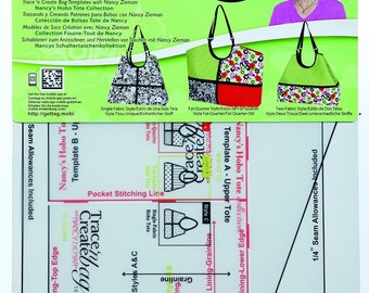 Clover Trace N Create Bag Template Town and Country Collection Part ...