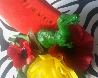 Kitsch Quirky Fun 'Fruitysaurus' Fascinator headpiece