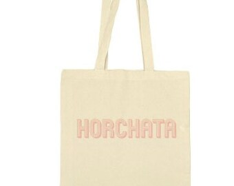Horchata canvas tote bag