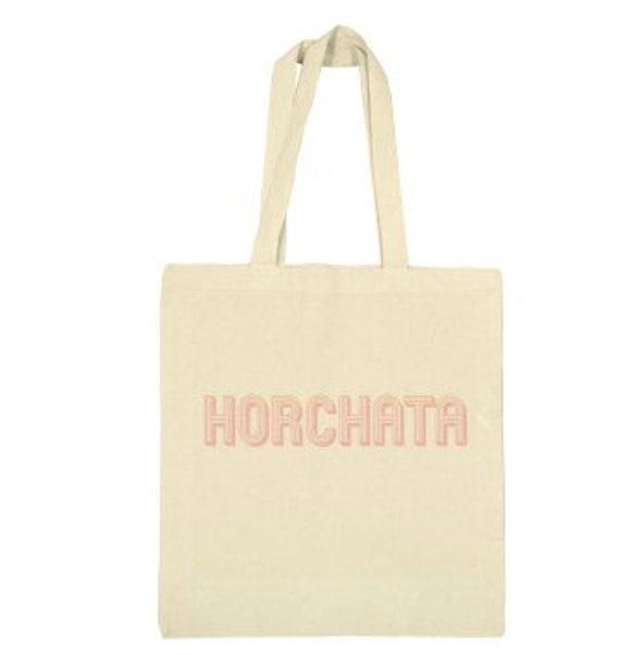 Horchata canvas tote bag