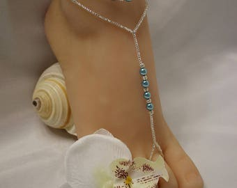 Pearl Crystal Barefoot Sandals Foot Jewelry Beach Wedding Barefoot Sandals Pearl Anklet