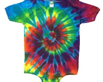 Tie Dye One-Piece - Spiral Aqua