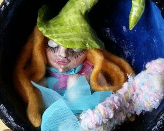 Gourd fairy.art doll. Halloween.  Fairy