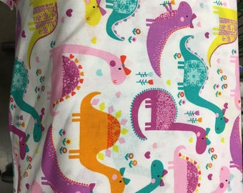 Booster Seat Cover, Lady Dinosaurs!